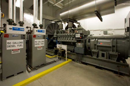 emergency reserve diesel generators for data center