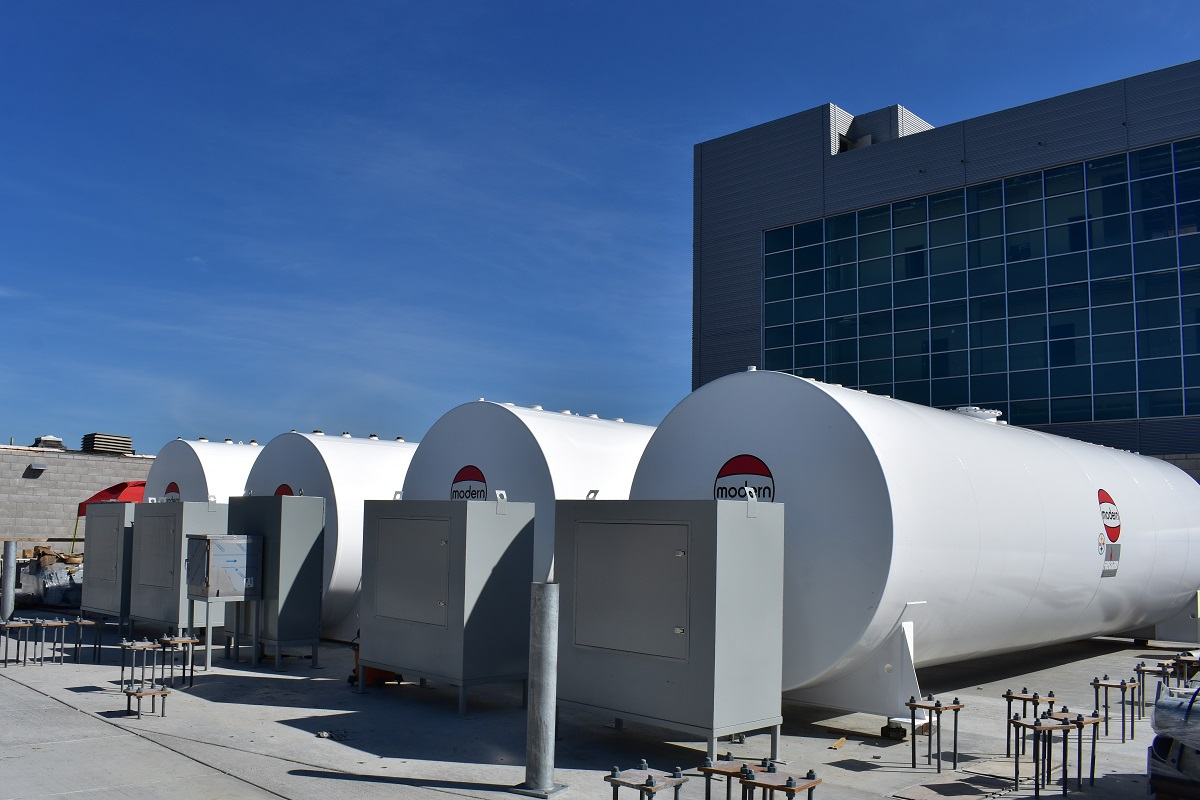 four double wall steel above ground storage tanks by modern welding